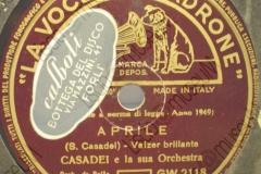 Aprile - (Secondo Casadei) - Valzer brillante - 21-06-1949