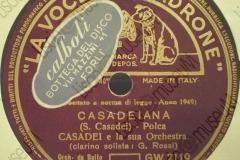 Casadeiana - (Secondo Casadei) - Polca - clarino solista G. Rossi - 21-06-1949