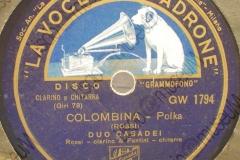 Colombina - (Rossi) - Polca - duo Casadei Rossi (clarino) e Fantini (chitarra) - 1943