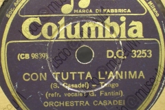 Con tutta l'anima - (Secondo Casadei) - Tango - refrain vocale G. Fantini - 1943