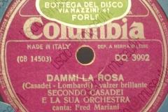Dammi la rosa - (Secondo Casadei) - Valzer brillante - canta Fred Mariani - 13-06-1956