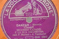 Danzar - (Secondo Casadei) - Mazurka - cantano Fred Mariani e Arte Tamburini - 06-07-1954