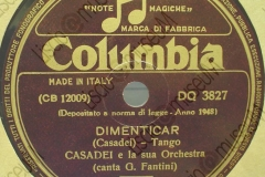 Dimenticar - (Secondo Casadei) - Tango - canta G. Fantini - 22-06-1948