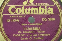 Teresina - (Secondo Casadei) - Valzer - canta G. Fantini - 12-10-1950