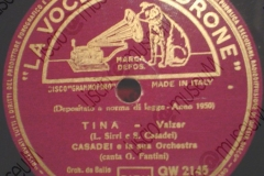 Tina - (L.Sirri - Secondo Casadei) - Valzer - canta G. Fantini - 1948