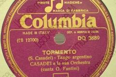 Tormento - (Secondo Casadei) - Tango Argentino - canta G. Fantini - 12-10-1950
