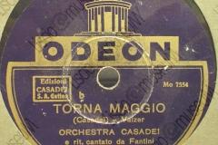 Torna Maggio - (Secondo Casadei) - Valzer - ritornello cantato da Fantini - 1936-1937